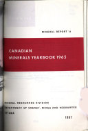Canadian Minerals Yearbook