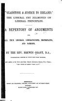 Gladstone   Justice to Ireland