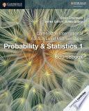 Books - New Cambridge International As & A-Level Mathematics Probability And Statistics 1 | ISBN 9781108407304