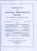 Proceedings, American Philosophical Society (vol. 99, no. 2)