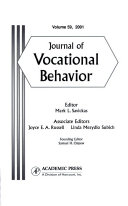 Journal of Vocational Behavior Book