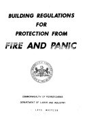 Building Regulations for Protection from Fire and Panic