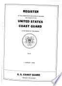 Register of the Commissioned and Warrant Officers and Cadets of the United States Coast Guard Book