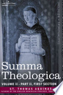 Read Online Summa Theologica, Volume 2 (Part II, First Section) For Free