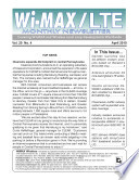 Wimax Monthly Newsletter 04 10