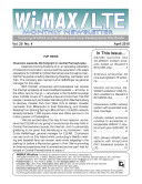 WiMAX Monthly Newsletter 04-10
