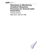 Workshop On Monitoring Oxidation Reduction Processes For Ground Water Restoration Book PDF