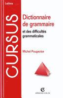 Pdf Dictionnaire de grammaire et des difficultés grammaticales Telecharger