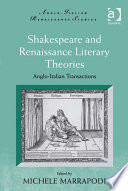 Shakespeare And Renaissance Literary Theories Book