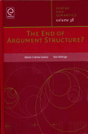 The End of Argument Structure