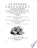 Les Epitres Des Apôtres Et L'Apocalypse De S. Jean