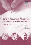 Quality Assurance Principles For Analytical Laboratories Book PDF
