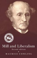 Cover image of Mill and liberalism