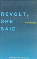 Revolt, She Said