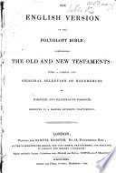 The English Version Of Polyglott Bible Etc