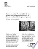Management of Peatland Shrub  and Forest dominated Communities for Threatened and Endangered Species