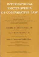 International Encyclopedia of Comparative Law Vol iii