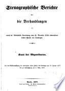 Stenographische Berichte über die Verhandlungen des Preußischen Hauses der Abgeordneten