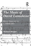 The Music of David Lumsdaine