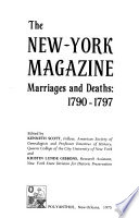 The New-York Magazine, Marriages and Deaths, 1790-1797