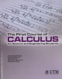 The First Couse of Calculus for Science and Engineering Students