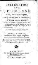 Instruction de la jeunesse en la piété chrétienne