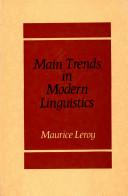 Main Trends in Modern Linguistics