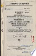 Missing Children Book