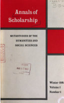 Pdf Annals of Scholarship