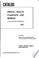 Catalog Mental Health Pamphlets And Reprints Available For Distribution