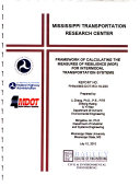 Framework of Calculating the Measures of Resilience  MOR  for Intermodal Transportation Systems Book