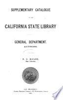 Supplementary Catalogue