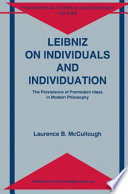 Read Online Leibniz on Individuals and Individuation For Free