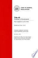 Title 40 Protection of Environment Part 52       52 01 to 52 1018   Revised as of July 1  2013