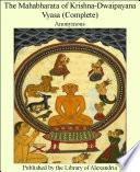 The Mahabharata of Krishna Dwaipayana Vyasa  Complete