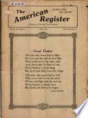 The American Register     Book