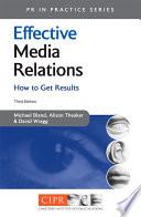 Effective Media Relations Book