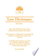 Law Dictionary, (Mass Market) 6th Ed.