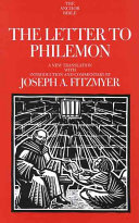 The Letter to Philemon Book