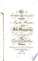 The Secret Revealed And The Mystic Beauties Of Free Masonry Developed  Book
