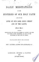 Daily Meditations on the Mysteries of Our Holy Faith Book