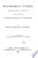 The Works of William Makepeace Thackeray: Roundabout papers