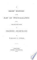 A Brief History Of The Art Of Stenography Book PDF