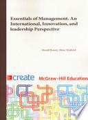 Essentials of Management. An International Perspective