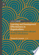 Learning and Development Effectiveness in Organisations