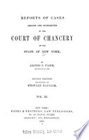 Reports of Cases Adjudged in the Court of Chancery of New York