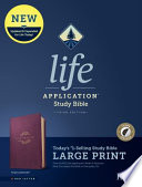 Kjv Life Application Study Bible Third Edition Large Print Red Letter Leatherlike Purple Indexed