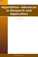 Algorithms—Advances in Research and Application: 2012 Edition [Pdf/ePub] eBook