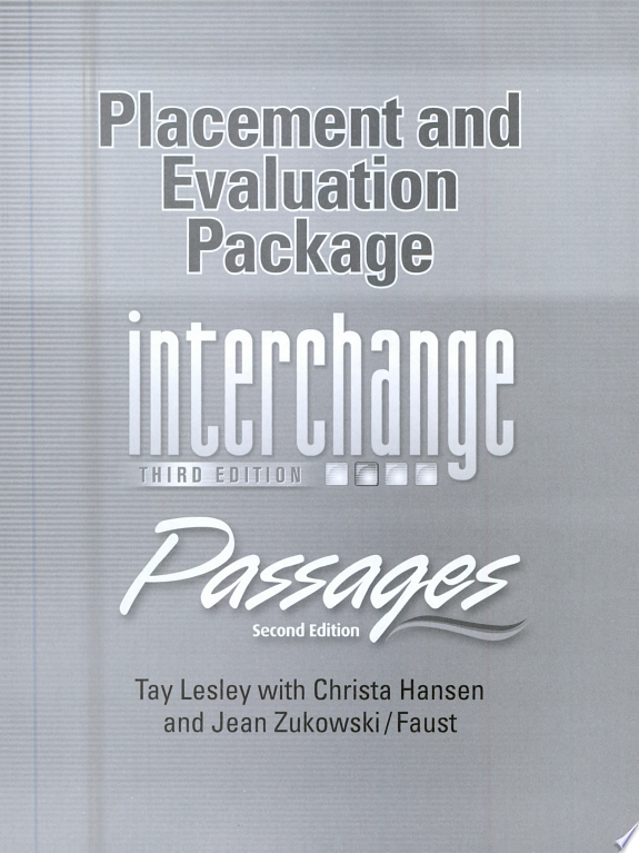 Placement and Evaluation Package Interchange Third Edition Passages Second Edition with Audio CDs  2