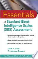 Essentials of Stanford Binet Intelligence Scales  SB5  Assessment